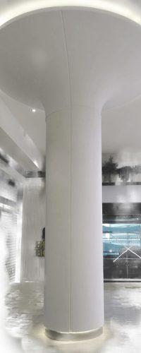 Pilar centro comercial solid surface CORIAN