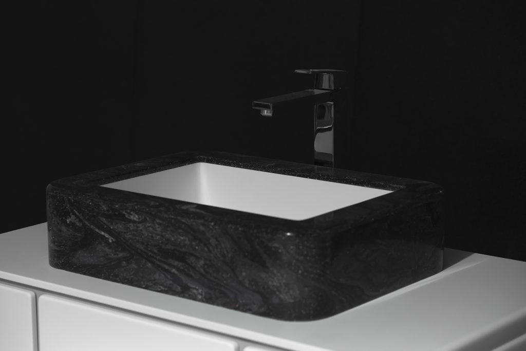 lavabo sobre encimera en solid surface CORIAN COSMO PRIMA