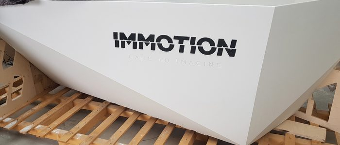 mostrador recepcion solid surface DUPONT CORIAN PARA IMMOTION LOGROÑO
