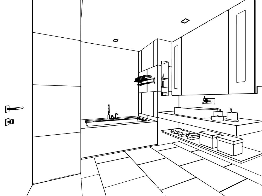 diseño lavabo y baño ILAELI